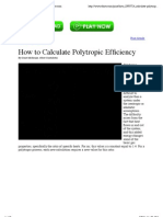 How to Calculate Polytropic Efficiency