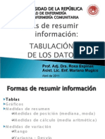 3. Tabulación de los datos