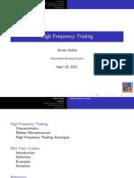 High Frequency Trading & Flash Crash