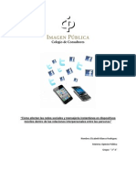 """Cómo afectan las redes sociales y mensajería instantánea en dispositivos  móviles dentro de las relaciones interpersonales entre las personas"""""""