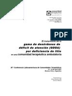 XIma. Confer en CIA a de Comunidades Terap Uticas 12-14 de Abril de 2007-Buenos Aires, Argentina