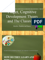 Piajet, Cognitive Development Theory and Your Classroom