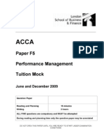 ACCA F5 Tuition Mock