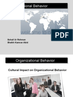 Culture Impact on Organization