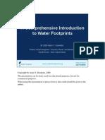 Water Footprint Presentation General