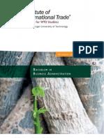 IITrade BBA Brochure 2011