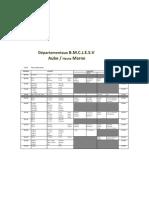 horaires Départementaux BE à VE 2011
