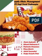 KFC Logistics Model and Supply Chain Analysis Kel 4