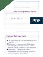 Modelo de Rgressao Linear Simples