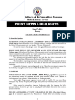 Print News Highlights 27 MAY 2011