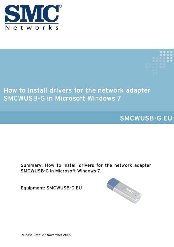 SMCWUSB-G Installation Instructions | Windows 7 | Microsoft