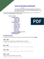 Conversión de formatos multimedia