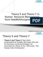 Theory X and Theory Y in HRM