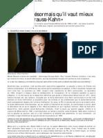 Article «Je pense désormais qu'il vaut mieux rapatrier Strauss-Kahn» - Libération