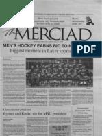 The Merciad, March 21, 2001