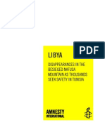 Amnesty International Report- Disappearanes Inthe Besieged Nafusa Mountains