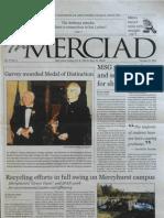 The Merciad, Oct. 25, 2001