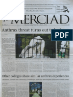 The Merciad, Nov. 8, 2001