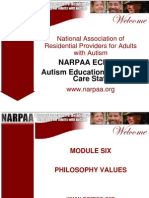 NARPAA E-Class Module 6 - Philosophy Values
