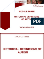 NARPAA E-Class Module 3 - Historical Definitions of Autism