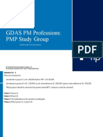 Additional Cost Questions - GDAS PMP Study Group Presentation