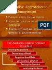 Quantitative Management Technques