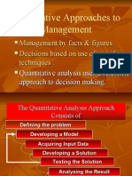 Quantitative Management Technques