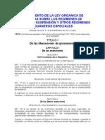 REGLAMENTO DE LA LEY ORGÁNICA DE ADUANAS SOBRE LOS REGÍMENES DE LIBERACIÓN