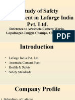 A Study of Safety Management in Lafarge India