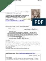 Einstein Letter to Gandhi