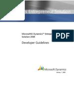Microsoft Dynamics Entrepreneur Developer Guidelines