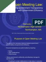 AGO Open Meeting Law Regional Trainings Presentation - Northampton MA 05-25-2011
