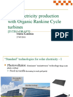 Brief intro to solar electricity production with Organic Rankine Cycle turbines