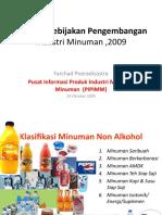 Evaluasi Kebijakan an Industri Minuman Dan Tembakau 2009