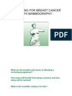 Screening for Breast Cancer Mammography