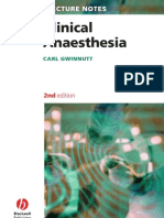 Clinical Anaesthesia