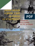 A proposito de la revision del POT de Bogota