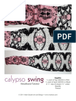 FreeSpirit Fabric -Mark Cesarik Calypso Swing Headband Tutorial