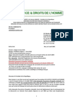 Lettre Adressee a SARKOZY Le 9 Aout 2009