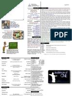 05-28-11 Bulletin