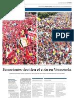 Emociones deciden el voto en Venezuela