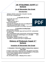 History of Ptolemaic Egypt (5 Lectures)