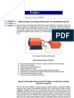 Optical Image Correlating Velocimeter for metallurgical plants