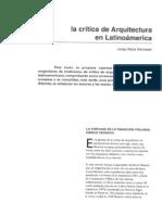 La crítica de Arquitectura en Latinoamerica por Josep Maria Montaner