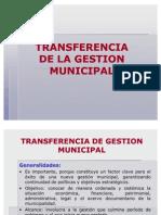 Transfer en CIA Municipal
