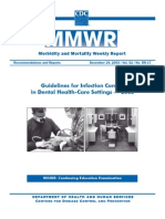 CDC Guideline for Infection Control . Rr5217
