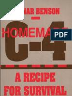 (eBook - Weapons & Explosives) Homemade C4 - A Recipe for Survival - Ragnar Benson (Paladin Press)