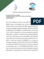 Carta Remisoria de Propuesta Constitucional Para Notables (Ipadecu Uncurepa 2011)