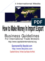 Import Export Guide, Business Guidelines