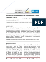 Determinación Espectrofotométrica  de Cu(II)-NH3